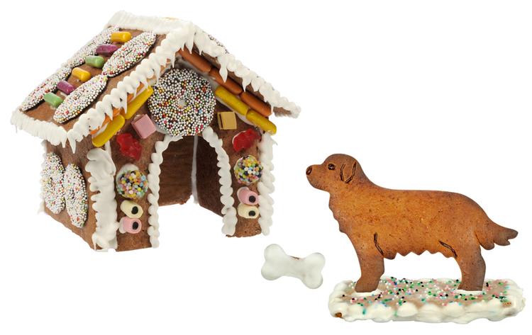 Pepparkakshus Hund och Hundkoja