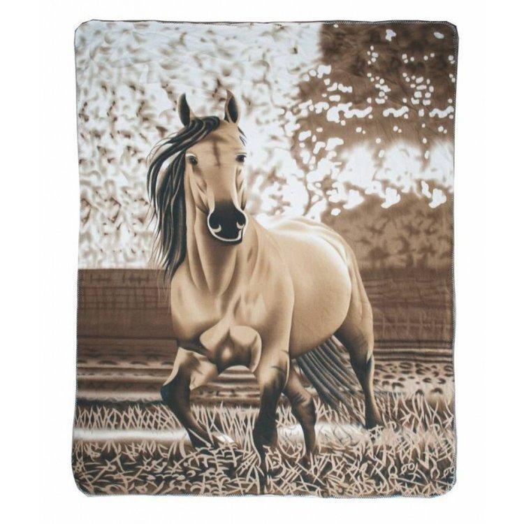 Fleecefilt häst HKM hästmotiv