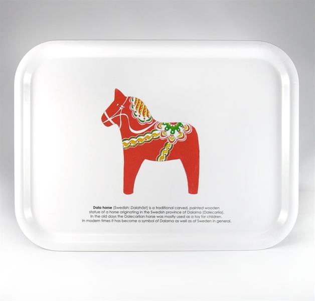 Bricka Dalahäst - perfekt som frukostbricka eller fikabricka - Dala Horse Tray