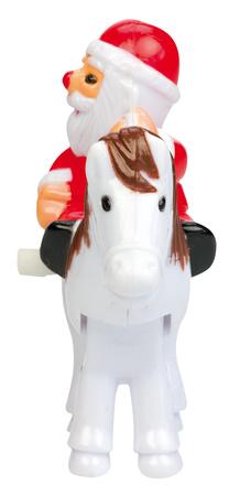 Mini rider Santa framifrån  - jultomte till häst