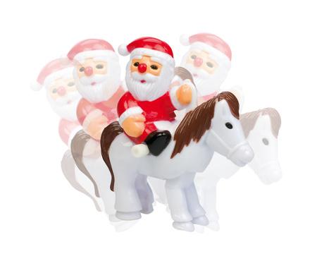 Mini rider Santa rör sig  - jultomte till häst