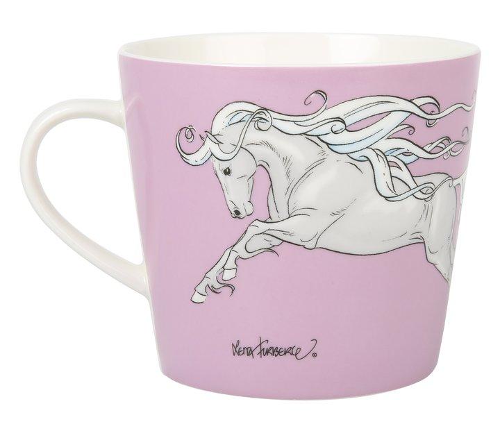 Mugg med hästmotiv    - Lena Furberg - rosa