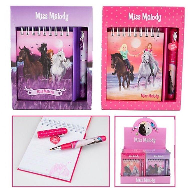 Miss Melody Anteckningsbok med penna rosa/lila