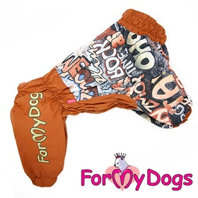 """Regnoverall """"Brown"""" Hane """"For My Dogs"""" För terriers"""