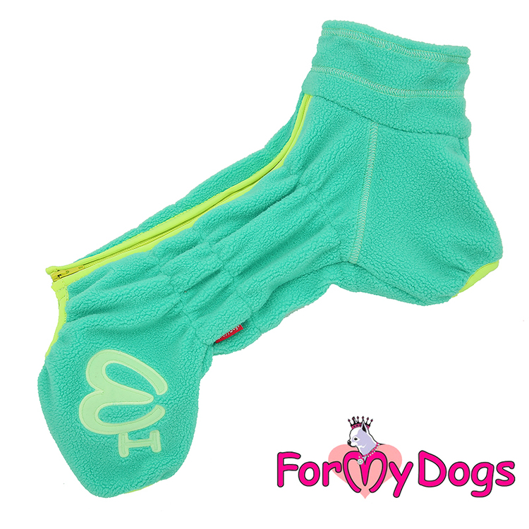 "Suit Fleece Overall ""Green"" Tik ""For My Dogs"" Modell Små och Mediumstora raser LAGERVARA Storlek: 10"