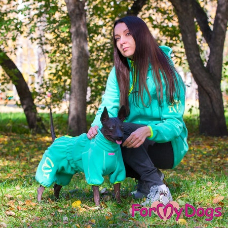 "Suit Fleece Overall ""Green"" Tik ""For My Dogs"" Modell Små och Mediumstora raser LAGERVARA Storlek: 10, 12, 14, 18, 20, 22"