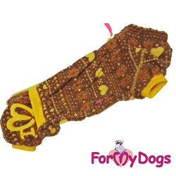 "Fleeceoverall ""Brun allmoge"" Hane ""For My Dogs"" Modell Corgi/tax LAGERVARA Storlek: TC1"