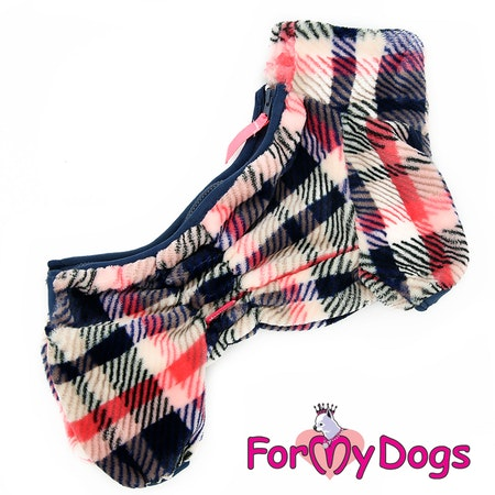"Fleeceoverall ""Red Plaid Pattern"" Tik ""For My Dogs"" Modell: Små & mediumstora raser Lagervara FMD Storlek: 16"