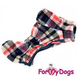 "Fleeceoverall ""Red Plaid Pattern"" Tik ""For My Dogs"""