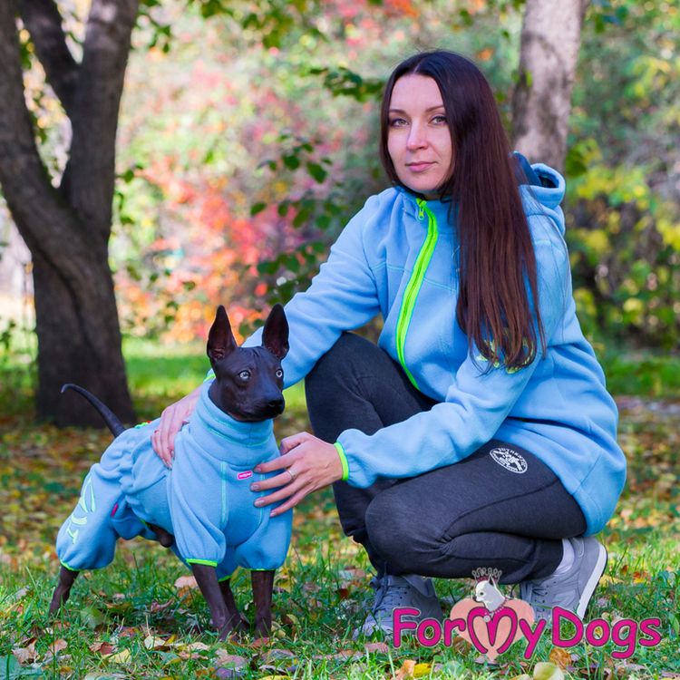 "Suit Fleece Overall ""Blue"" Hane ""For My Dogs"""