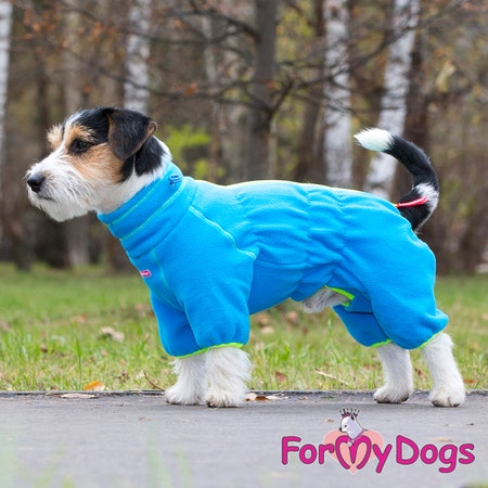 "Suit Fleece Overall ""Blue"" Hane ""For My Dogs"" Modell: Små och Mediumstora raser Lagervara Storlek: 14"