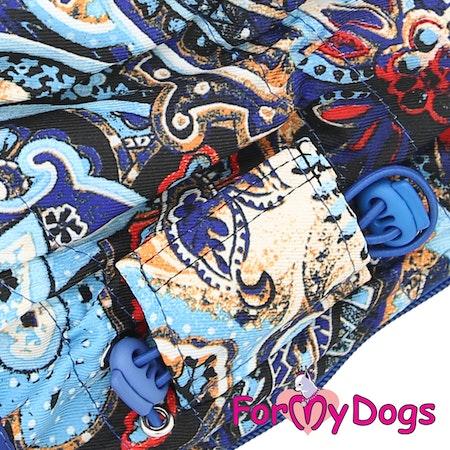 """Varm Vinteroverall """"Blue Pattern"""" Tik """"For My Dogs"""" Modell: Små & mediumstora raser Lagervara Storlek: 18"""