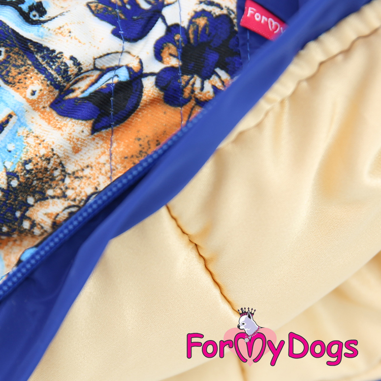 "Varm Vinteroverall ""Blue Pattern"" Tik ""For My Dogs"""