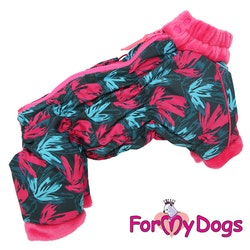 "Varm Vinteroverall ""Pink Leaves"" Tik ""For My Dogs"""