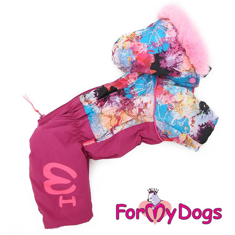 """Varm Vinteroverall """"Pink Pattern"""" Tik """"For My Dogs"""" Modell: Små & mediumstora raser LAGERVARA Storlek: 16"""