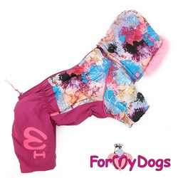 "Varm Vinteroverall ""Pink Pattern"" Tik ""For My Dogs"""