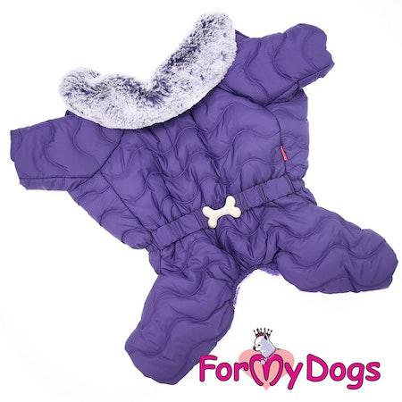 """Varm Vinteroverall """"Purple Quilted"""" Hane """"For My Dogs"""" Modell: små och mediumstora raser LAGERVARA Storlek: 18"""