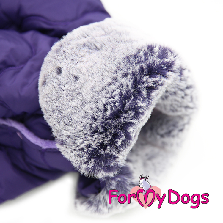 """Varm Vinteroverall """"Purple Quilted"""" Hane """"For My Dogs"""""""