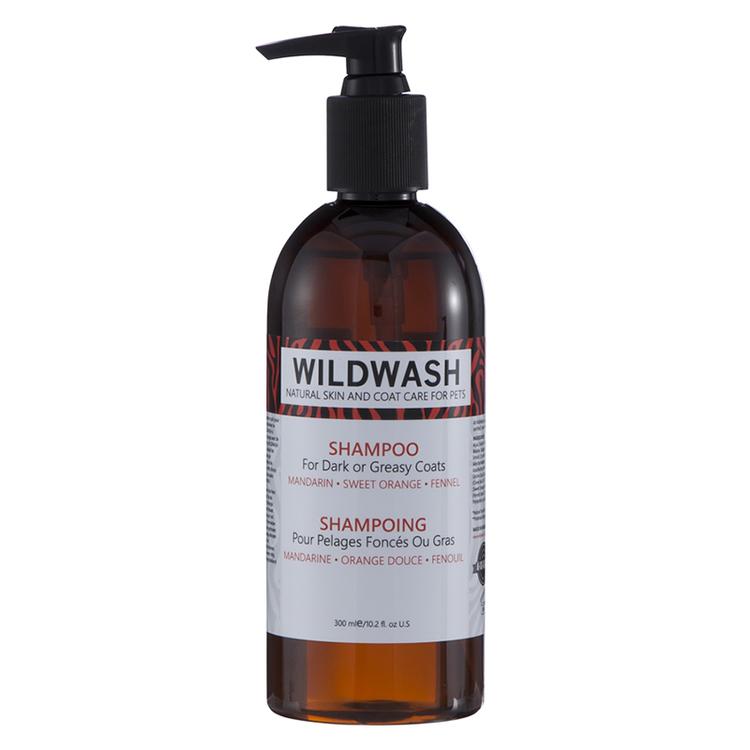 WILDWASH PRO Schampoo for Dark or Greasy Coats för mörka eller oljiga pälsar 300ml