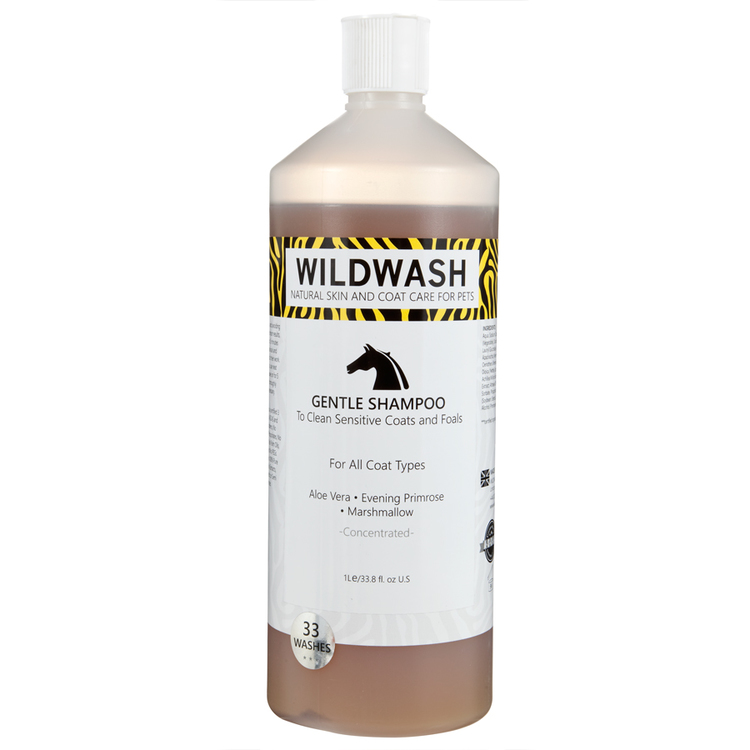 WILDWASH HORSE Gentle Schampoo - Milt schampoo sensitive 1L