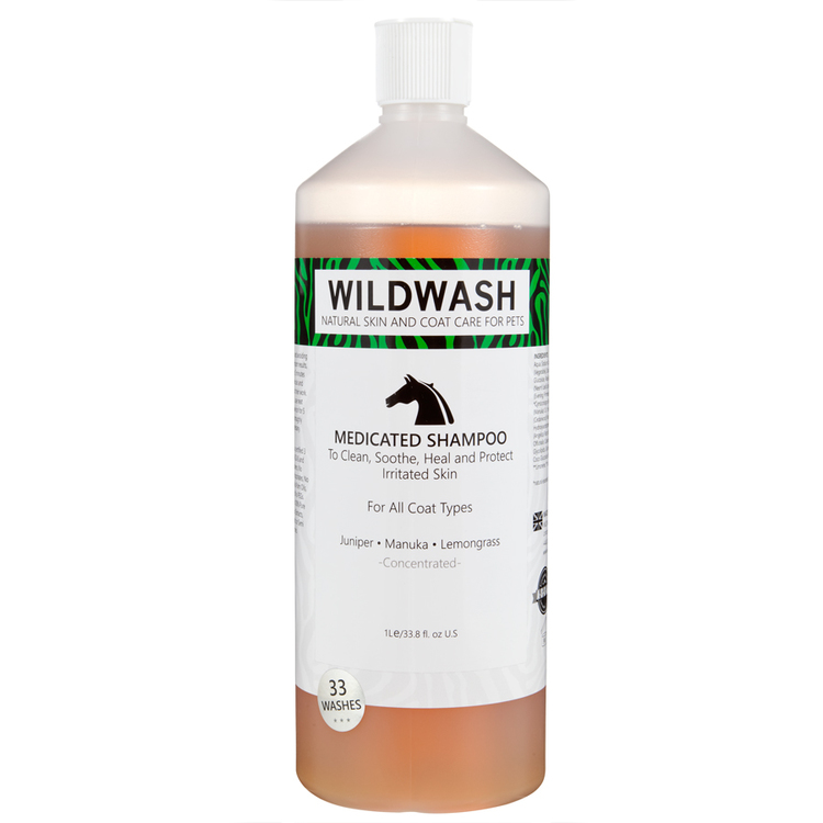 WILDWASH HORSE MedicatedSchampoo - Milt schampoo sensitive 1L