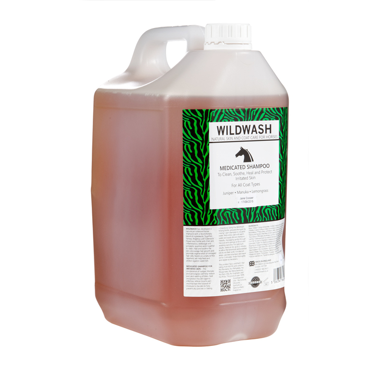 WILDWASH HORSE Medicated Schampoo - Milt schampoo sensitive 5L
