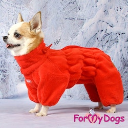 "Fleeceoverall ""Red"" Tik ""For My Dogs"""