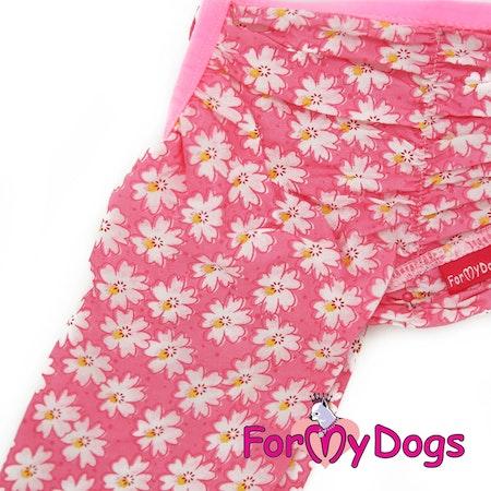 """Duster """"Pink Flowers"""" Tik """"For My Dogs"""" Modell Små och mediumstora raser LAGERVARA Storlek: 16"""