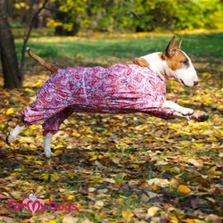 "Duster ""Pink Flowers"" Tik ""For My Dogs"" Modell Terrier LAGERVARA Storlek: A0"