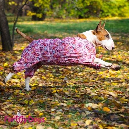 "Duster ""Pink Flowers"" Tik ""For My Dogs"" Modell Terrier LAGERVARA Storlek: A0"