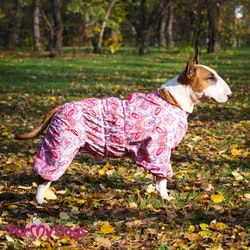 """Duster Tunn Skyddsoverall """"Rosa blommor"""" Tik """"For My Dogs"""""""