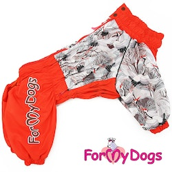 "Varm Vinteroverall ""Röd fågel"" Tik "" For My Dogs"""