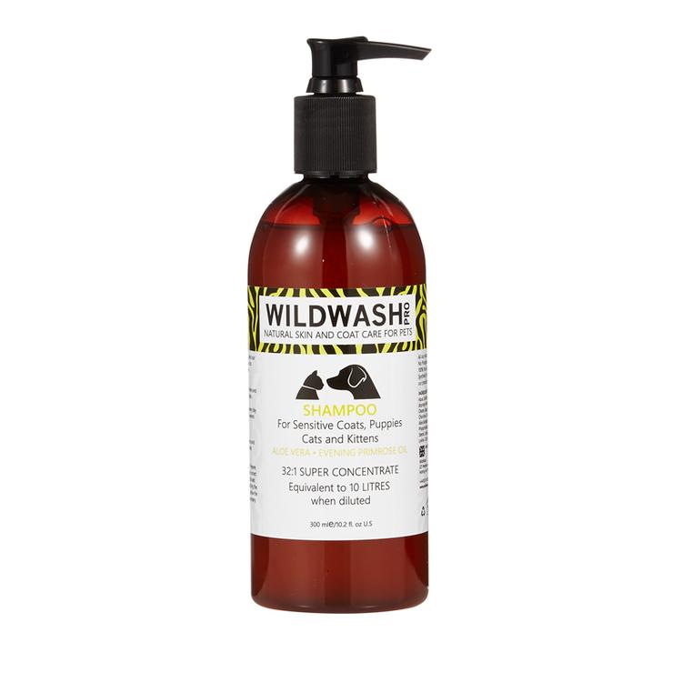WILDWASH PRO Sensitive Schampoo -  för känslig hud/päls, valpar, kattungar och katter 300ml