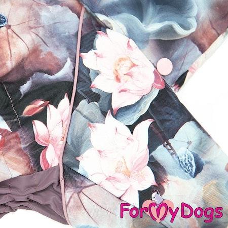 """Regnoverall """"Lotus"""" Tik """"For My Dogs"""" Modell Små och Mediumstora raser Lagervara Storlek: 22"""