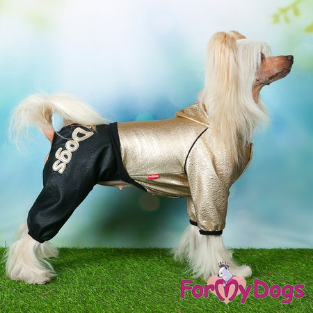 """Suit Trikåoverall """"Black/Gold"""" Unisex """"For My Dogs"""""""