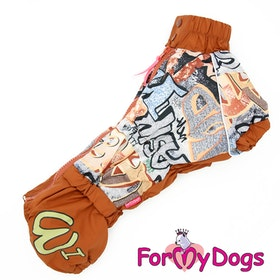 """Regnoverall """"Brown"""" Hane """"For My Dogs"""" För Tax"""