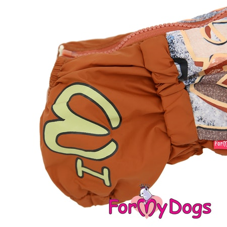 "Regnoverall ""Brown"" Hane ""For My Dogs"" Modell ""Tax"" Kortbenta/långryggade raser Lagervara Storlek: TM2"