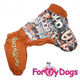 """Regnoverall """"Brown"""" Hane """"For My Dogs"""" För medium till stora hundar"""