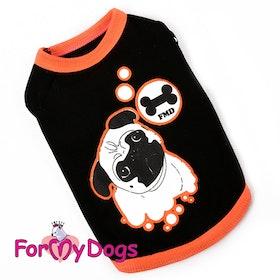"T-shirt Trikå ""Orange"" Unisex ""For My Dogs"""
