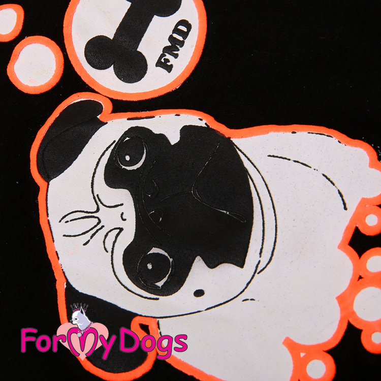 "T-shirt Trikå ""Orange"" ""For My Dogs"" UNISEX"