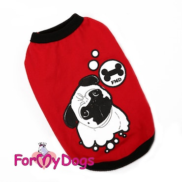 """T-shirt Trikå """"Red"""" """"For My Dogs"""" UNISEX"""