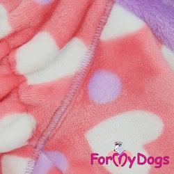 """Fleece Overall """"PINK HEART"""" Tik"""" For My Dogs"""" Modell för små och Mediumstora raser Lagervara Storlek: 20"""