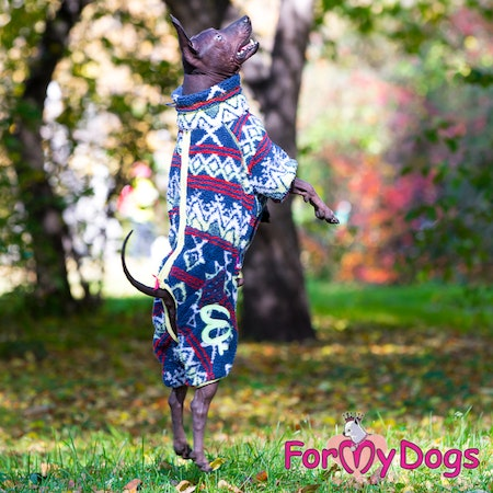 "Suit Fleece Overall ""Multi Blue"" Hane ""For My Dogs"" Modell Små och Mediumstora raser Lagervara Storlek: 10"