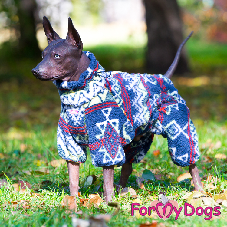 "Suit Fleece Overall ""Multi Blue"" Hane ""For My Dogs"""