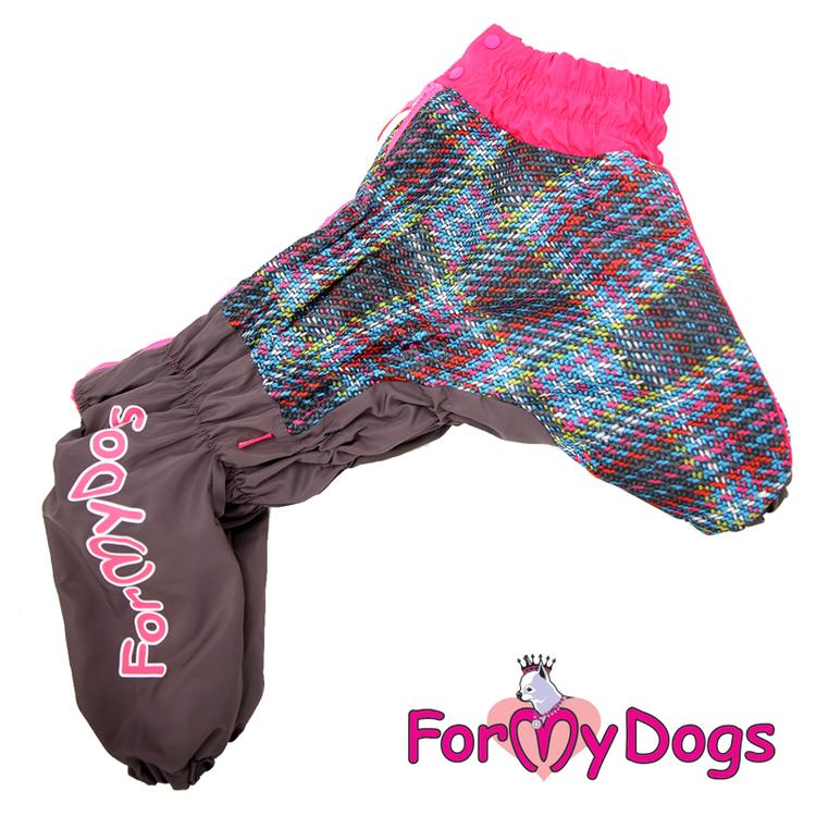 """Varm Vinteroverall """"Grå/rosa"""" Tik """"For My Dogs"""" Modell Terrier LAGERVARA Storlek: A0"""