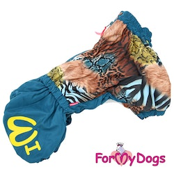 "Vinteroverall ""Blå wild pattern"" Hane ""For My Dogs"""