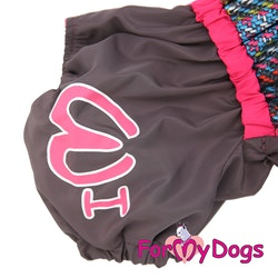 "Vinteroverall ""Grå/rosa"" Tik ""For My Dogs"""