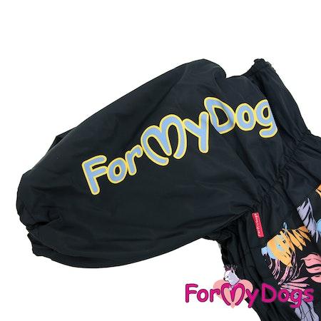 "Vinteroverall ""Black leaves"" Male ""For My Dogs"" Modell Terrier LAGERVARA Storlek: A0"