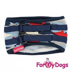 """Skvättskydd """"Blue Fish"""" För hane """"For My Dogs"""" Modell Små och Mediumstora raser LAGERVARA Storlek: 10"""