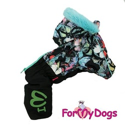 "Vinteroverall ""Green Butterflies Pattern"" Tik ""For My Dogs"""